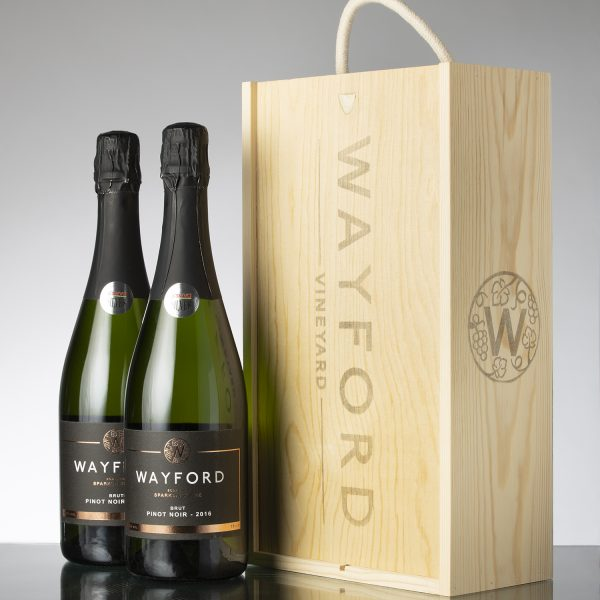 Wayford Brut Pinot Noir 2017 Vintage – two bottles in gift box